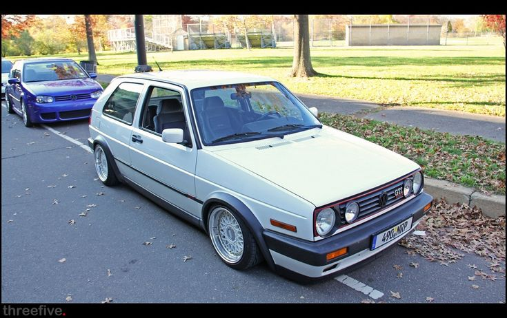 Beautiful white mk2 golf gti!