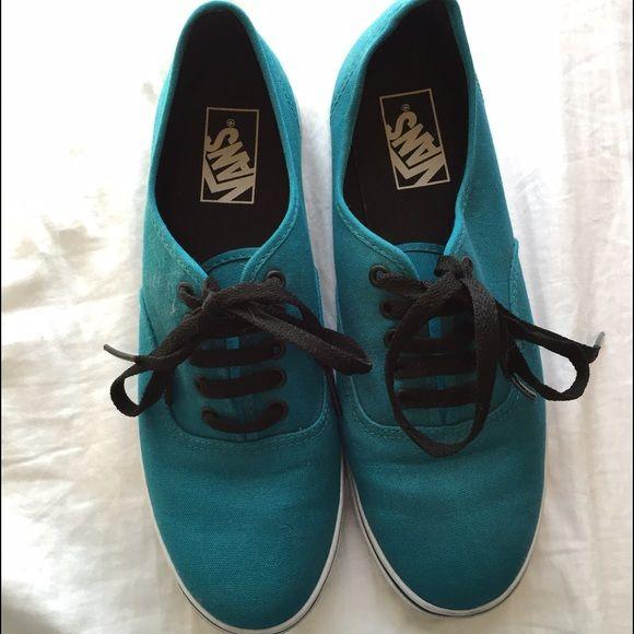 dark blue vans women's 8.5 slightly worn vans, but in almost new condition Vans Shoes Sneakers