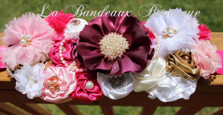 Burgundy, Ivory, White, Gold,  Pink Maternity Sash, Flower Girl Sash, Wedding Belt, Maternity Belt, Burgundy Sash, Wedding Sash, Flower Belt by LaBandeauxBowtique on Etsy