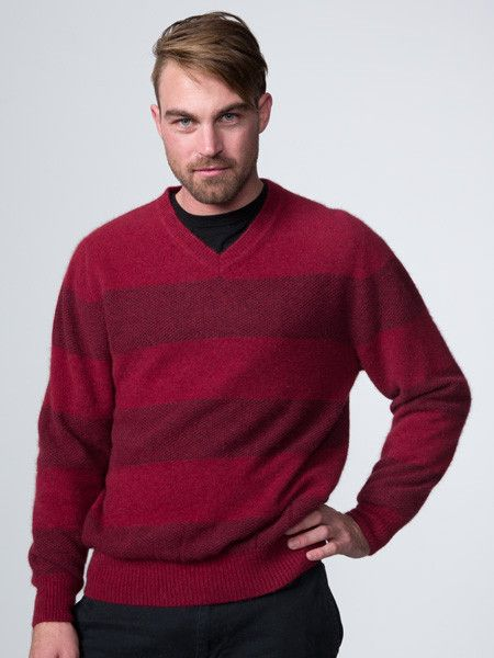 Possumdown Mesh Stripe Jumper from Possumdown
