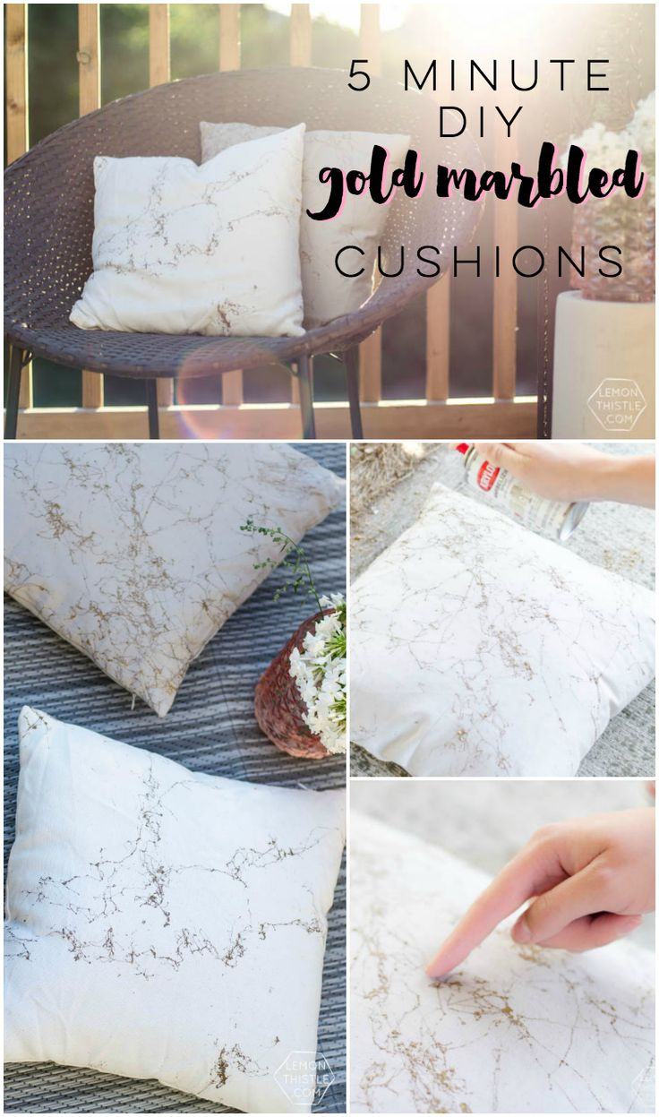 How to clean your living room in 5 minutes - 5 Minute Diy Gold Marbled Throw Pillows