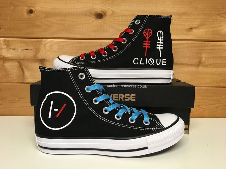Twenty One Pilots Converse #top #twentyonepilots #converse #customconverse