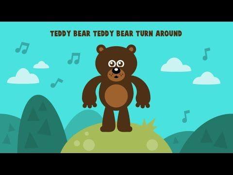 Teddy Bear Teddy Bear Turn Around song for circle time!  #preschool #kidsmusic