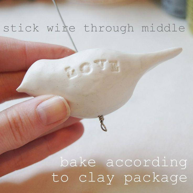 Clay Bird Ornament Tutorial