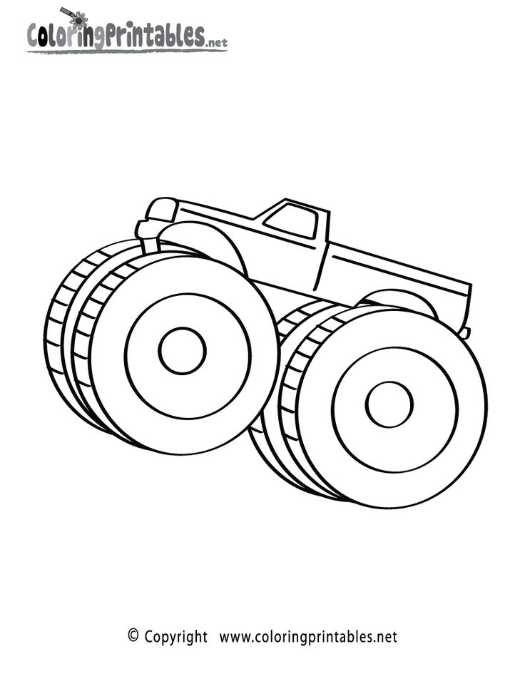 monster truck coloring page a free boys coloring printable