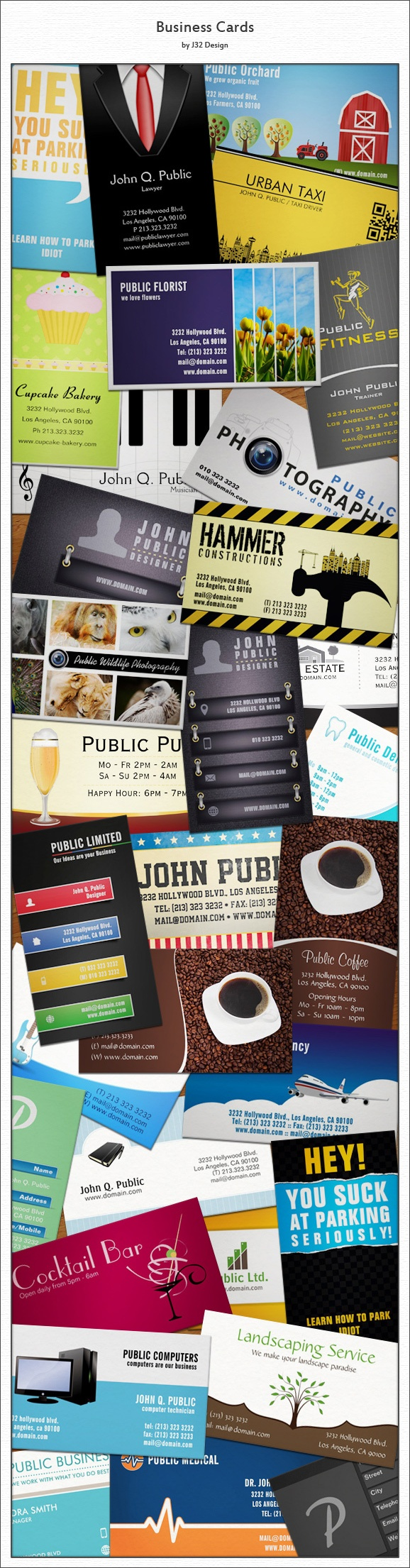 Business Cards by J32 Design, #businesscards #graphicdesign #design #collection