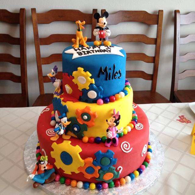 Mickey Mouse Clubhouse birthday cake Miles 1st Birthday ...