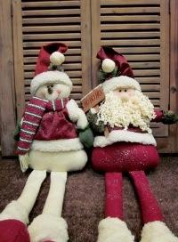 Muñecos nieve y papanoel.