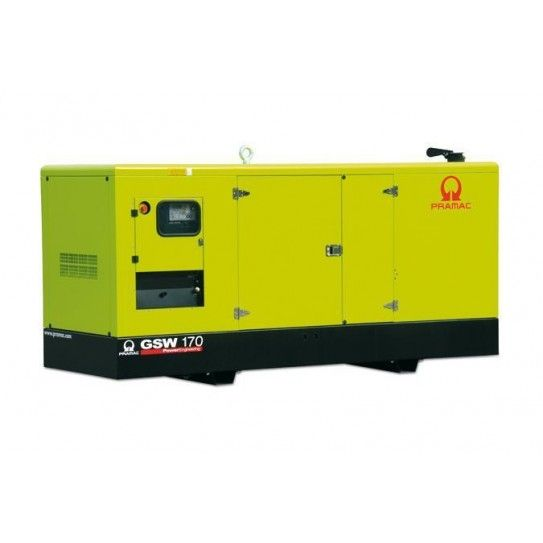 Market leaders in stationary generators for large commercial uses, Pramac units are manufactured in Europe using the world's leading components, and imported to Australia for full pre-delivery and testing. The consummate choice for large power supply requirements for varying commercial operations, the GSW170 model is powered by a Perkins Diesel engine and Mecc Alte Italian manufactured alternator.