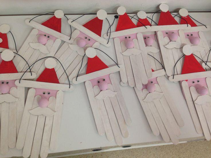 Lavoretto di Natale 2016 Babbo Natale con abbassalingua