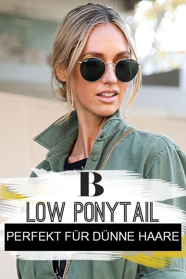 Low Ponytail Dieser Frisurentrend Ist Perfekt Für Dünne