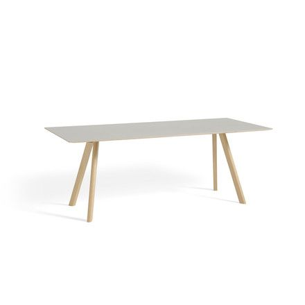 Hay - Copenhague CPH30 Esstisch 200 x 90 cm, Eiche matt lackiert / Tischplatte cremeweiß (Mushroom 4176) Weiß T:90 H:74 B:200