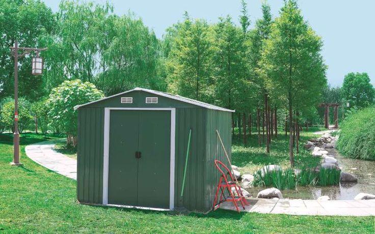 Casetta da giardino porta attrezzi in acciaio zincato  APEX da esterni 3x3mt…