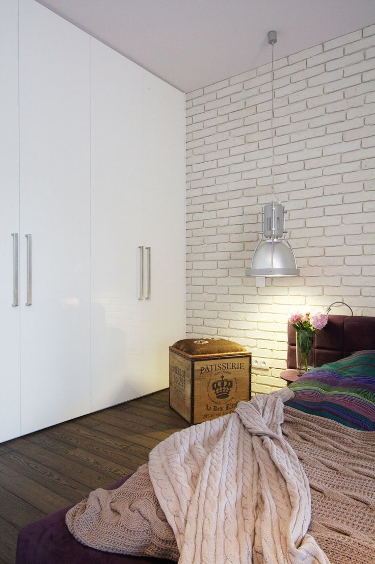 Crate Nightstand To Enhance Poland Apartment Interior Decor as Bedroom Among White Cabinet