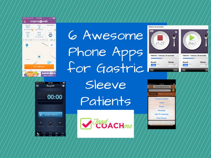 6 Awesome Smart Phones Apps for Gastric Sleeve and Gastric Bypass Patients! FREE Apps for iPhone or Android! #foodcoachme