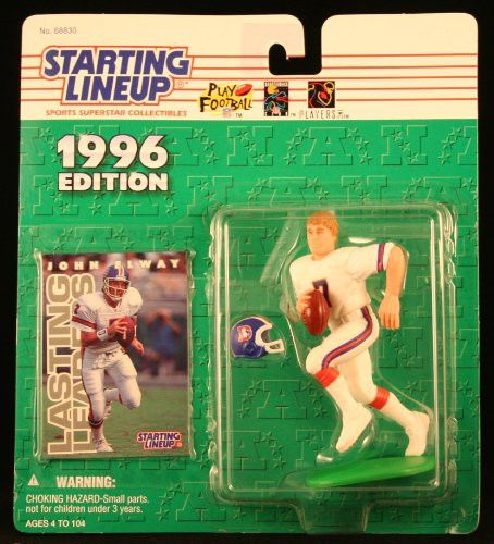 JOHN ELWAY / DENVER BRONCOS 1996 NFL Starting Lineup Action Figure & Exclusive NFL Collector Trading Card