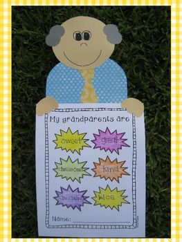 Bilingual Scrapbook: We Love Our Grandparents {A special Craftivity for Grandparents Day in English and Spanish}