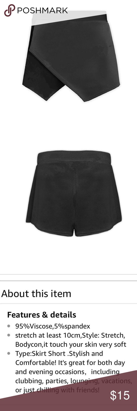 Black envelope skort brand new Size XXs super cute for a night out Skirts