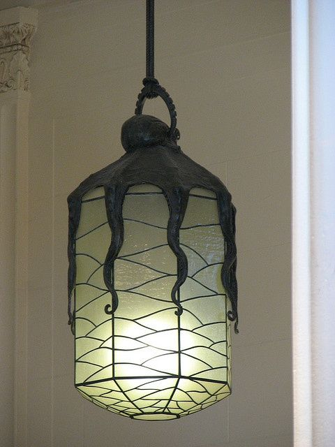 Awesome for octopus bathroom shedd aquarium octopus lamp let there be light art nouveau Bathroom light fixtures chicago