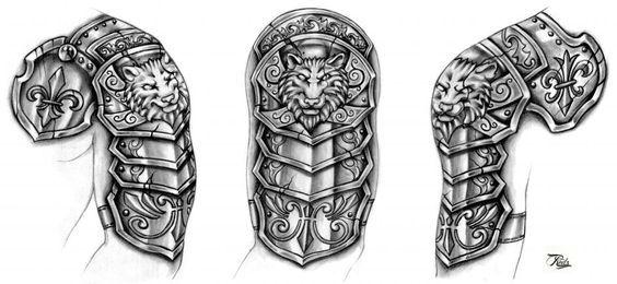 Wolf Armor Sleeve Armour Tattoo Shoulder Armor Tattoo Wolf Tattoo Sleeve