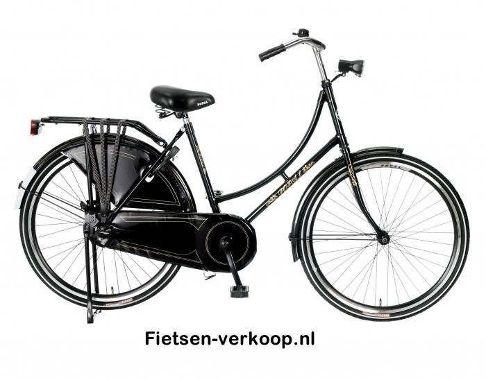 Omafiets Zwart 26 Inch | bestel gemakkelijk online op Fietsen-verkoop.nl