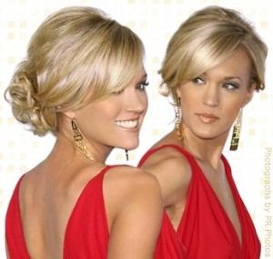 Slightly obsessed with Carrie Underwood's hair! Looking forward to an excuse to try out this updo