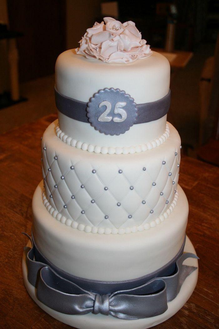 25th Anniversary Cake Designs