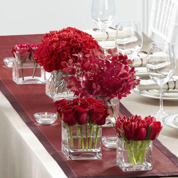 Rose Flower Wedding Table: 1125 Best Square/rectangle Vase Centerpiece Ideas /square