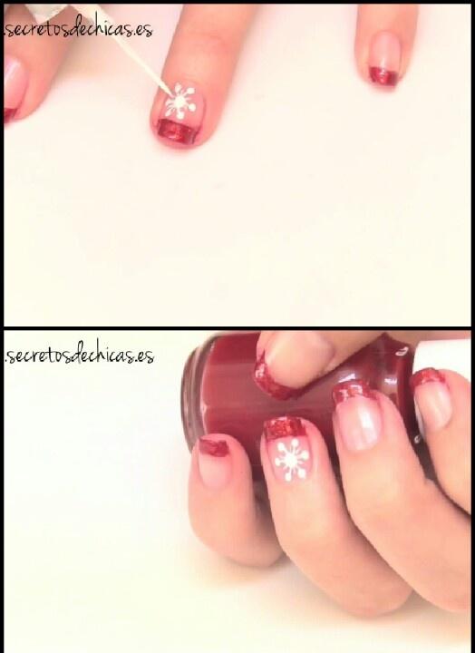 Pintado de uñas fáciles para navidad