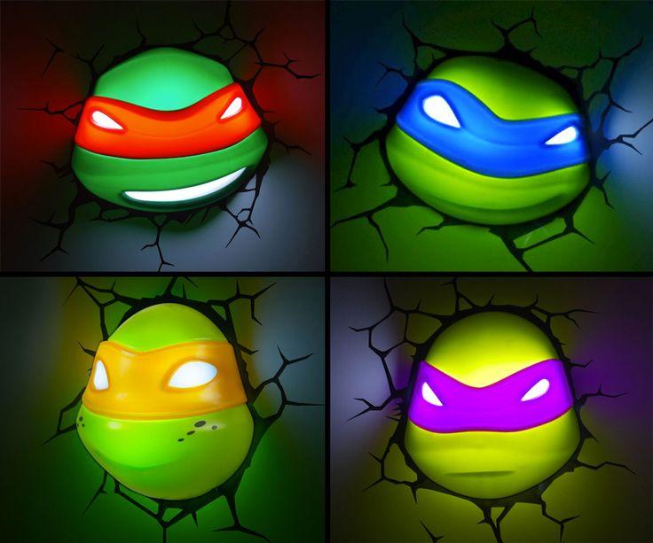 tmnt nightlights boys room ideaskids