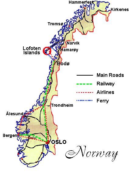 Map of Lofoten Islands:  http://www.lofoten-info.no/norsk/journey.htm