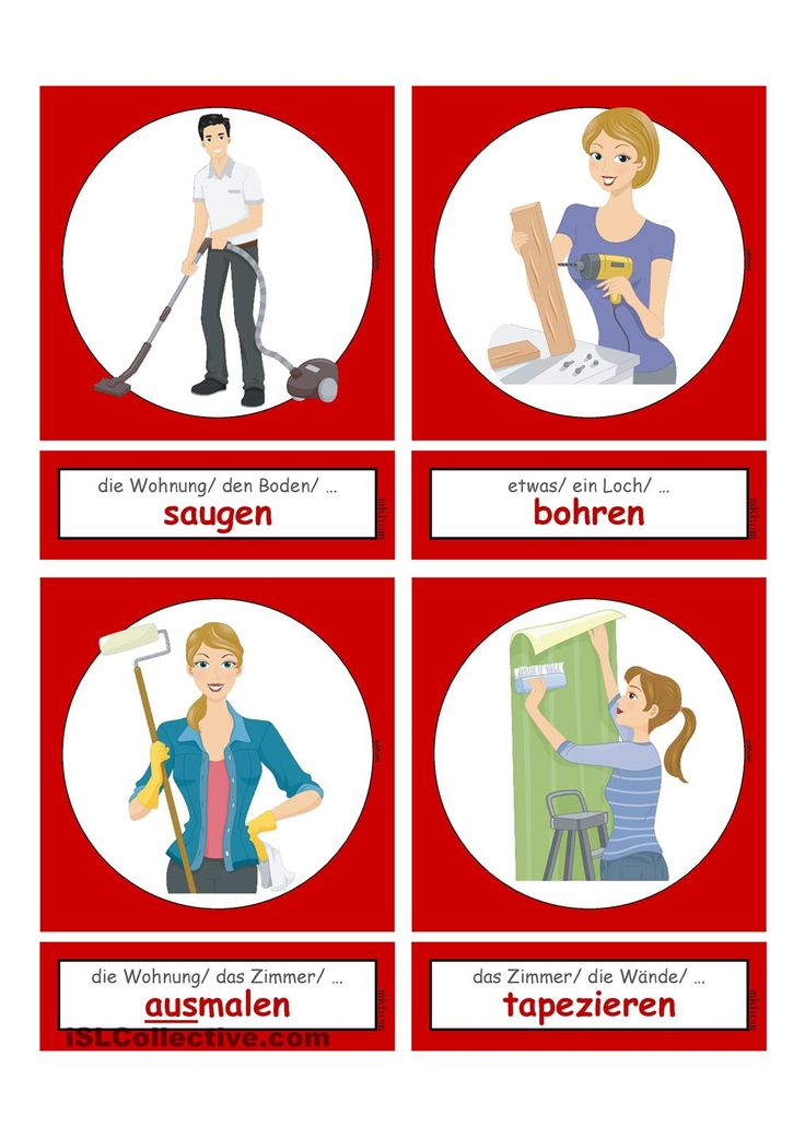 Ttigkeiten Im Haushalt Alltag 2 Flashcards Klein