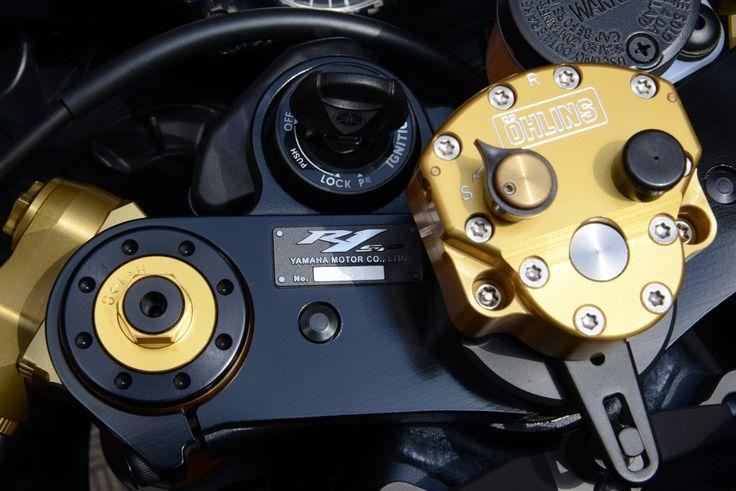 Yamaha R1 SP Öhlins Steering Damper Rotary detail