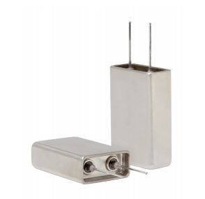 The MLSH hermetically-sealed flatpack aluminum electrolytic capacitor. Source: Cornell Dubilier