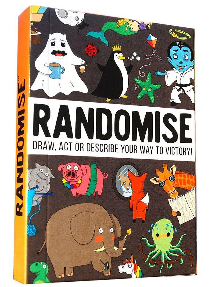 Kickstarter Produkt - Randomise - Urkomisch. Kreativ. Spaßig. Ausgelassenes Partyspiel für Leute, die mehr Zeit damit verbringen wollen mit Familie und Freunden zu lachen. Familientaugliches Kartenspiel für 4–50 Spieler ab 8 Jahren