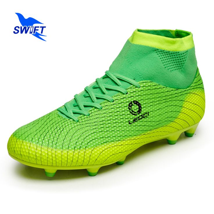 High Ankle Professional Mens AG Soccer Boots New Top Women Anti Shock Football Shoes Cheap FG Football Cleats Futsal Sneakers