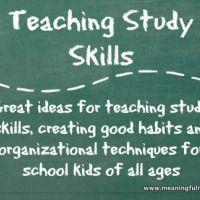 Teaching Study Skills to Kids - Meaningfulmama.com