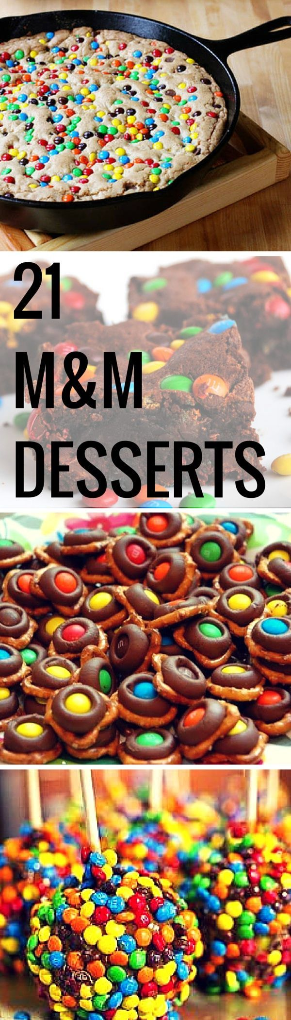 These 15 M&M desserts are a delicious must try for your next event or for just your next sweet treat craving