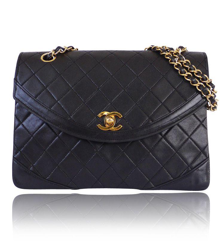 Chanel Black Lamb Skin 2.55 Paris Limited Edition Classic Vintage