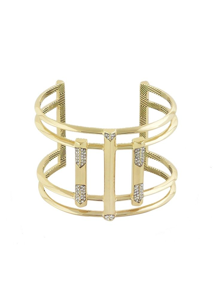 DEFINED DECO CUFF CRYSTAL http://www.thedarkhorse.com.au/shopping/CUFFS/DEFINED-DECO-CUFF-CRYSTAL---HOUSE-OF-HARLOW