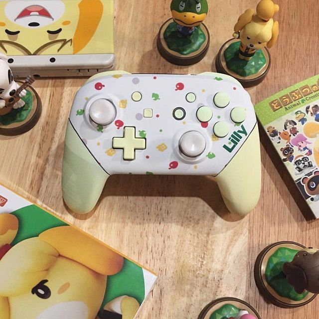 Custom Animal Crossing Themed Nintendo Switch Pro Controller With
