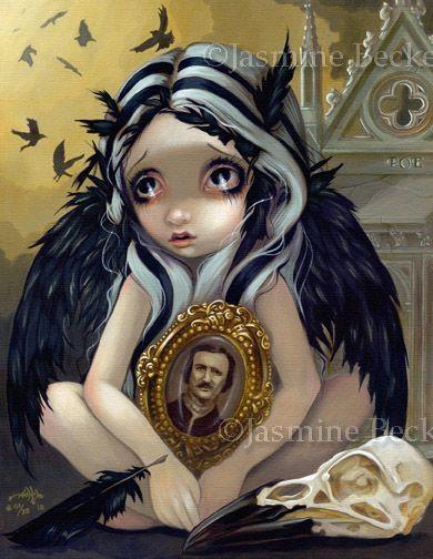Nevermore Poe Raven Fairy art gothic angel Jasmine Becket Griffith