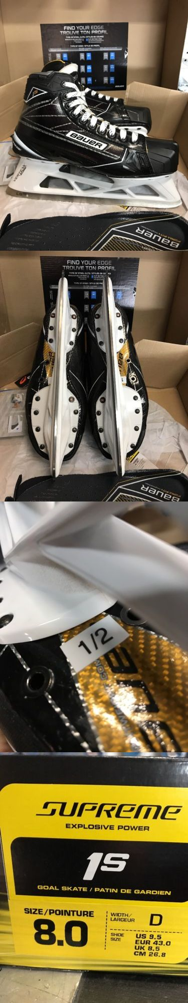 Ice Hockey-Adult 20858: Bauer Supreme 1S Sr Ice Hockey Goalie Skates 8D Brand New -> BUY IT NOW ONLY: $650 on eBay!