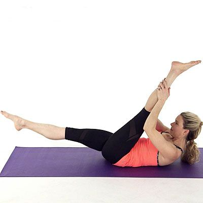 Tighten and tone your body with the Single Leg Straight Leg Stretch. With this exercise, you use a leg stretch to engage the muscles in your thighs, butt, and core. | Health.com