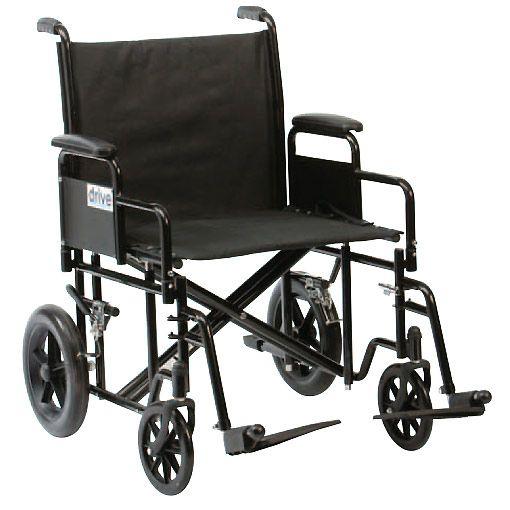 Silla de ruedas XXL DRIVE Especial viaje, supereconómica. Mas información en: http://www.sci-geriatria.com/catalogo/sillas-ruedas/plegables/xxl/