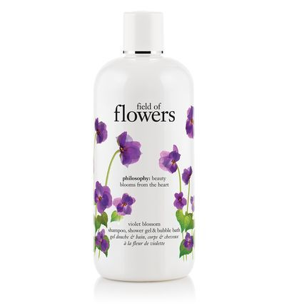 field of flowers | violet blossom shampoo, shower gel & bubble bath | philosophy bath & shower gels