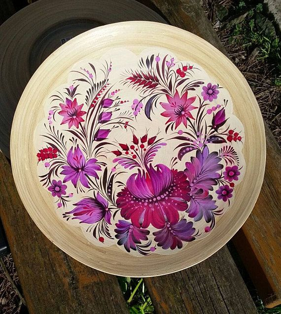 Check out this item in my Etsy shop https://www.etsy.com/uk/listing/556774480/plate-bamboo-hand-painted-ukrainian