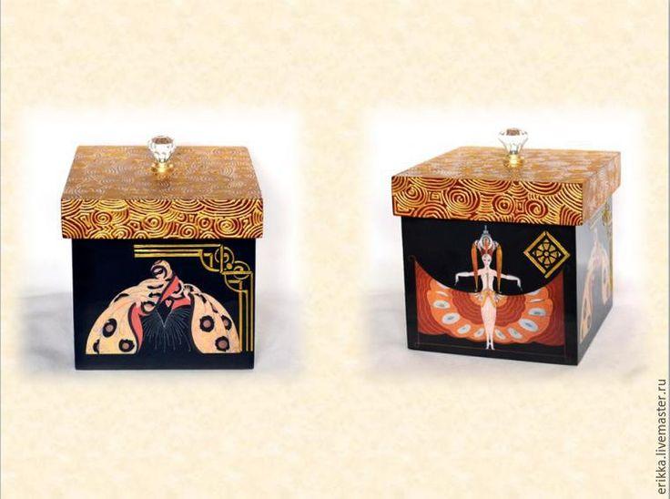 Декорируем коробку для мелочей «Эрте. По следам ар-деко» - Ярмарка Мастеров - ручная работа, handmade