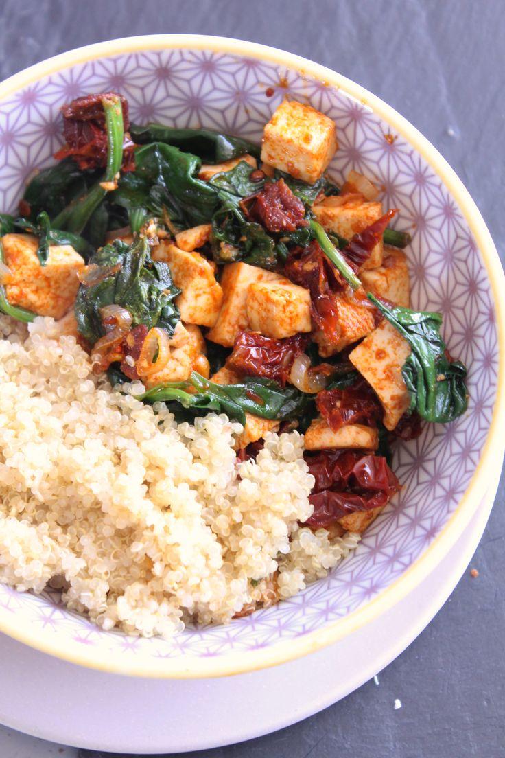 Tofu mariné et tomates séchées