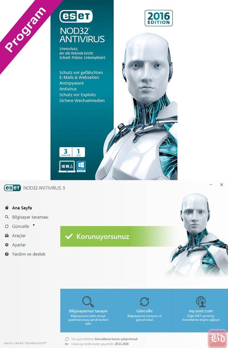 ESET NOD32 Antivirus 9 Full Sınırsız Katılımsız TR